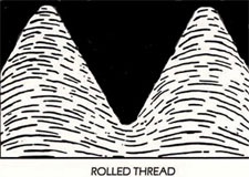 Rolled thread grain structure