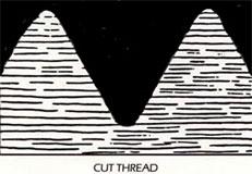 Cut thread grain structure