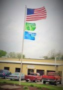 ISO flags flying at Metal Forming Industries